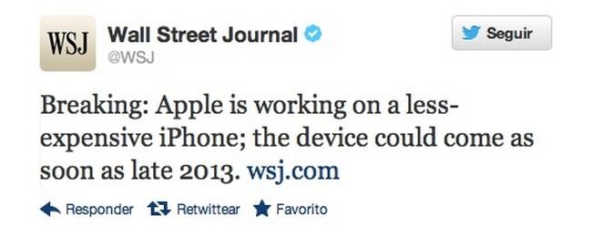 Wall Street Journal Tweet