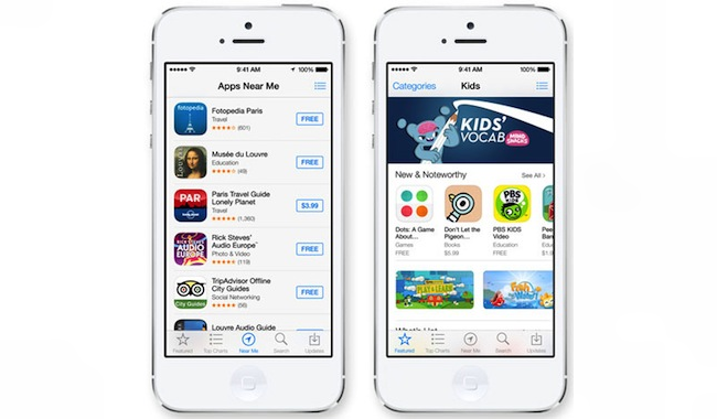 App Store iOS 7