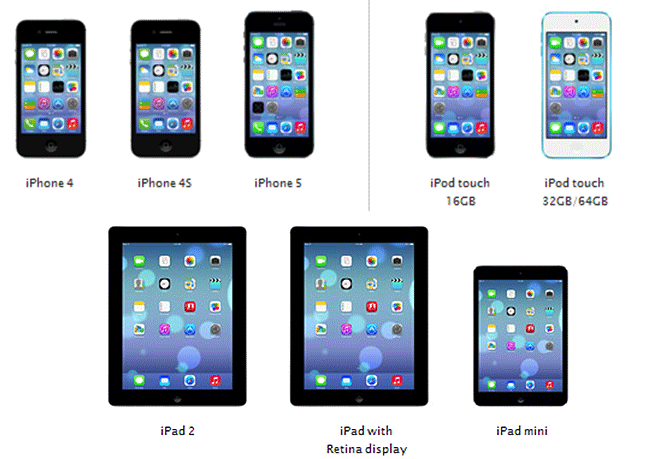 Dispositivos iOS 7