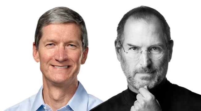 Steve Jobs y Tim Cook