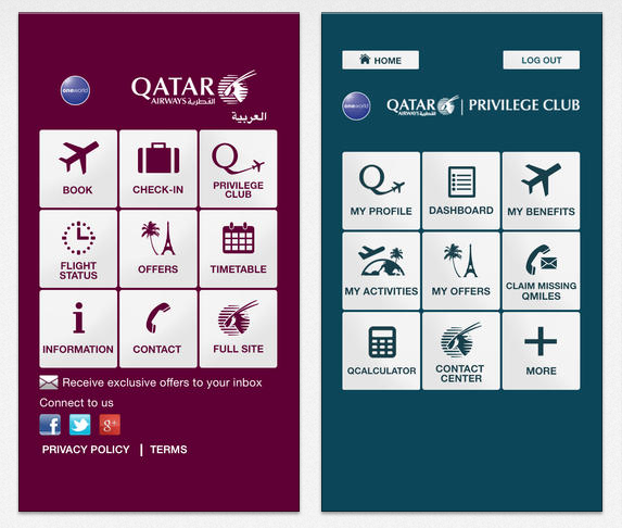 Qatar Airways iPhone App (1)