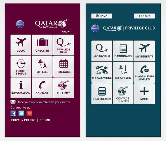 Qatar Airways iPhone App (1)