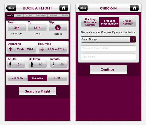 Qatar Airways iPhone App (2)