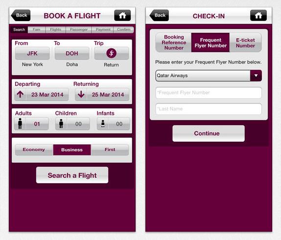 Qatar Airways iPhone App (2)