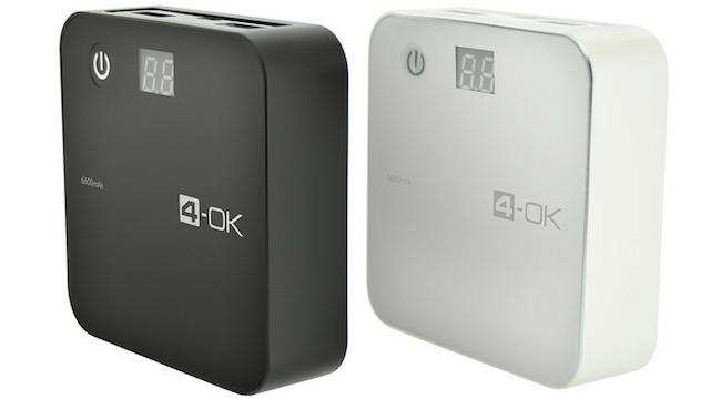 4-OK by Blautel Power Bank 6600 mAh