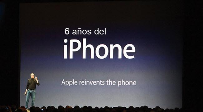 6 años del iphone