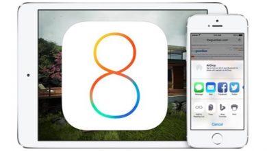 Dispositivos con iOS 8 de Apple Instalado