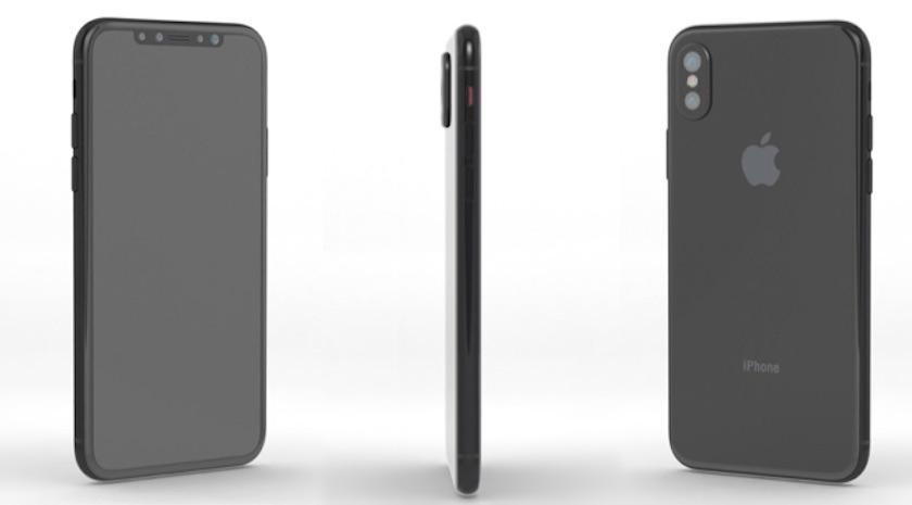 Render del Nuevo iPhone 8 de Apple en Color Negro